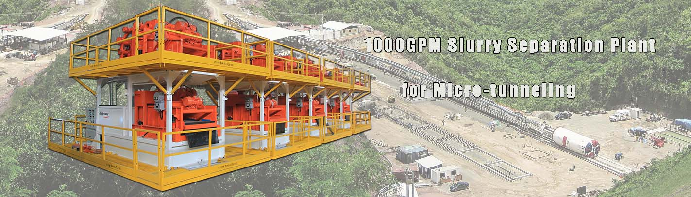 1000 GPM Separation Plant for Tunneling in Malaysia
